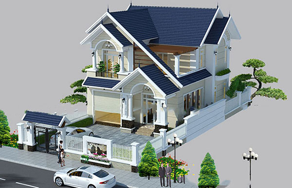 Thiết kế biệt thự 2 tầng tại Đà Nẵng