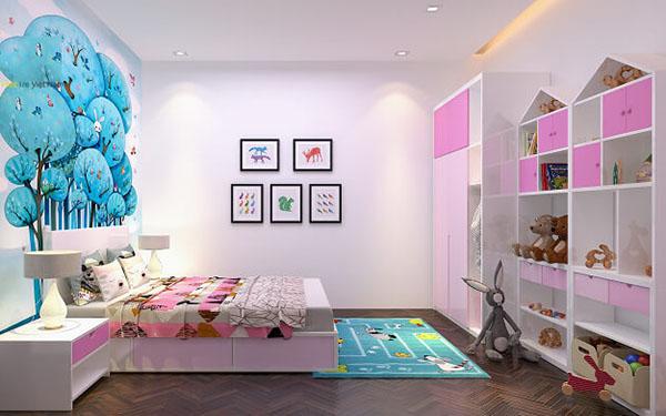 Thiết kế phòng ngủ cho bé gái đẹp nhất tại Đà Nẵng